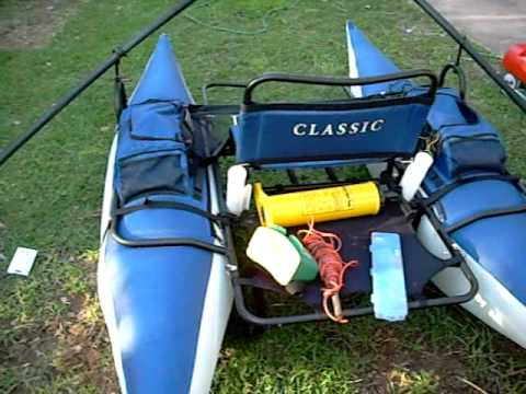 Inflatable Fishing Pontoon Boat Cimarron Classic