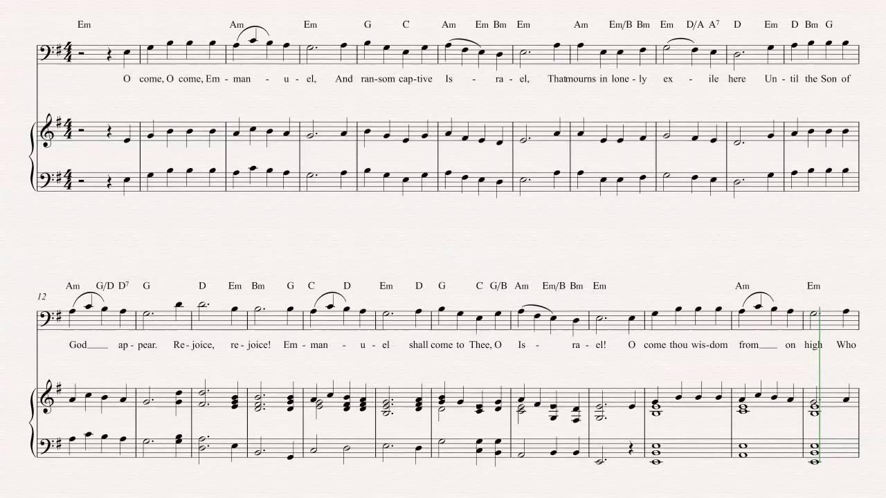 Euphonium - O Come O Come Emmanuel - Christmas Carol - Sheet Music ...