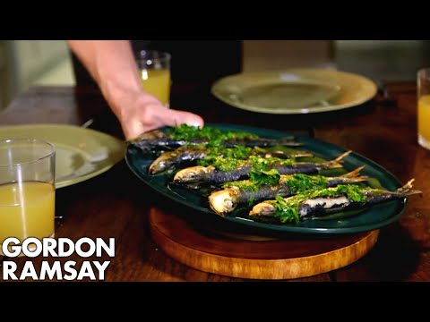 Download Youtube: Orzo Pasta Salad with Grilled Sardines | Gordon Ramsay
