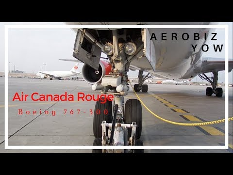 Air Canada Rouge 767-300 Pushback