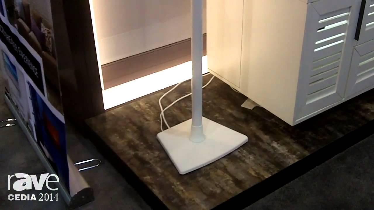 cedia sanus adds its wireless speaker stands for sonos play speakers - Sanus Speaker Stands