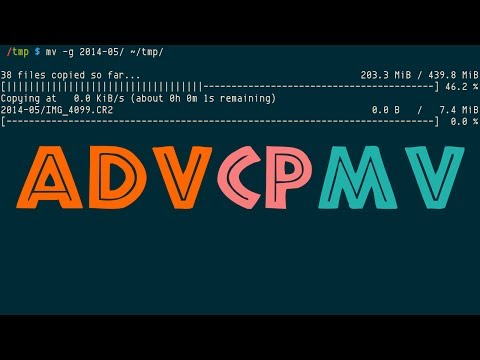 advcpmv, Advanced Copy, cp and mv with progress bar, patches for coreutils