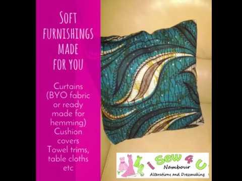 Custom made Soft furnishings cushion covers and curtain