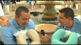 Two Guys Get A Backrub from The Disney Spa