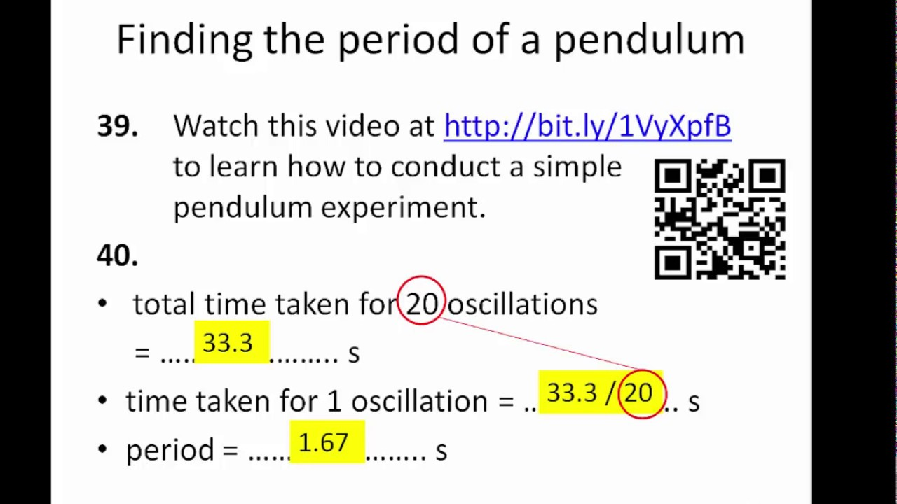 using a simple pendulum to find Science experiments on file ™ revised edition 633-1 © facts on file, inc using a pendulum to measure gravity's acceleration elizabeth b chesick topic.