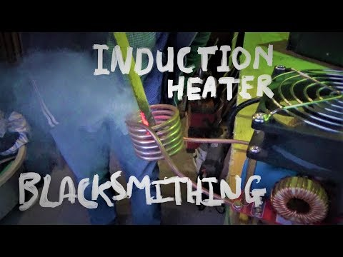 Induction Heating Metal Blacksmith Knife Making Part1 of 3