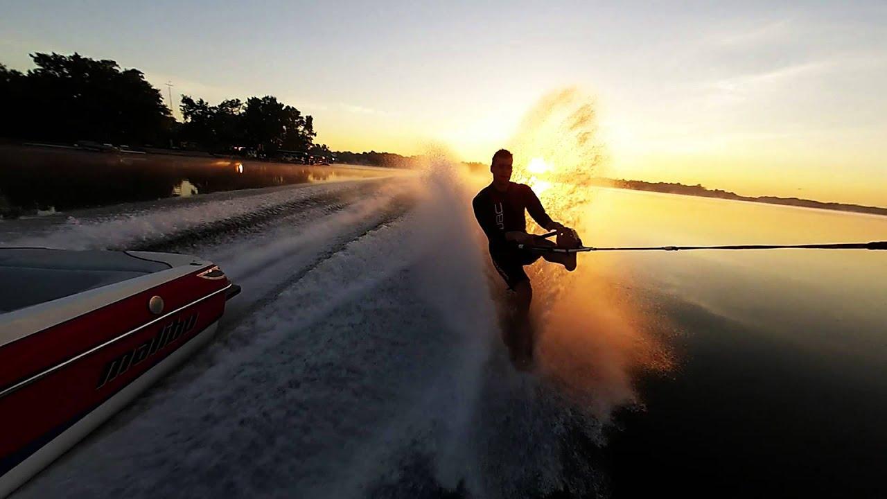 GoPro Barefoot Waterskiing Sunrise