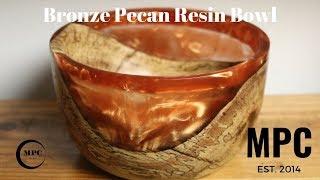 Bronze and Pecan Resin Bowl