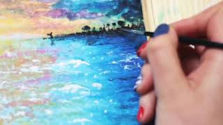 4 minutes straight of people painting on things