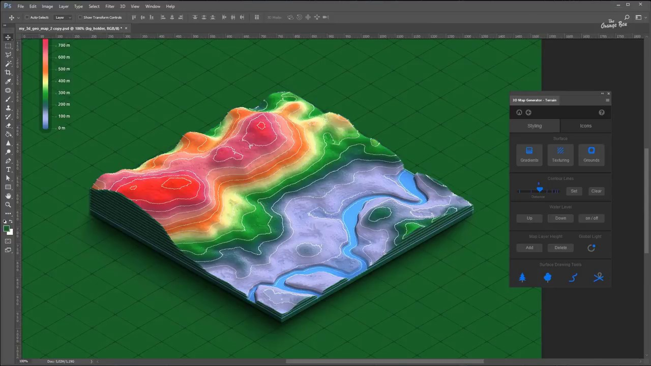 The worlds first Heightmap Terrain Generator for Photoshop   3D Map  Generator - Plugin for Photoshop