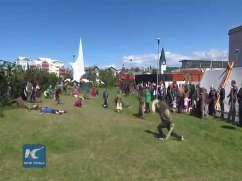 Icelanders celebrate Viking Festival
