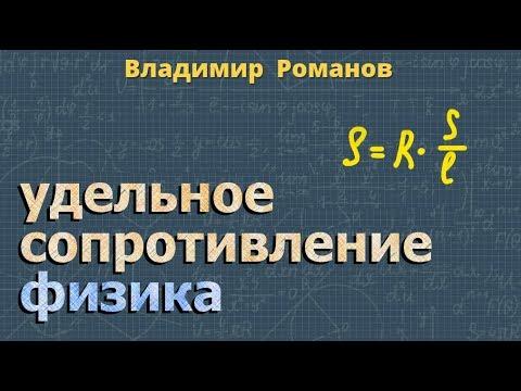 Как вычислить сопротивление проводника формула