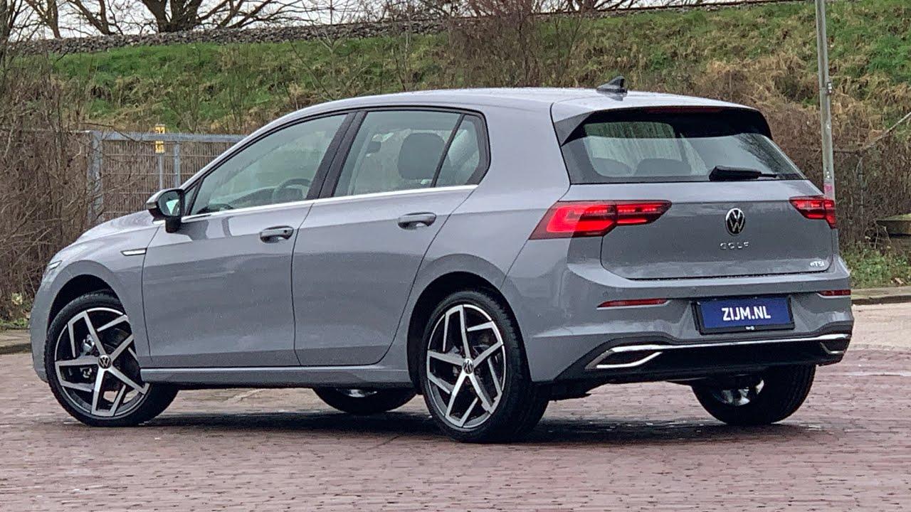 Volkswagen New Golf 8 In 4k 2020 Style Moonstone Grey 18 Inch Dallas Walk Around Detail Inside Youtube