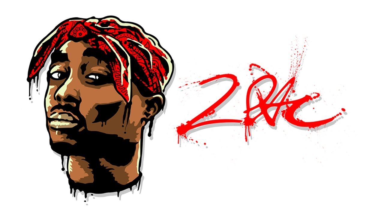 Photoshop | 2Pac portrait Wallpaper - YouTube