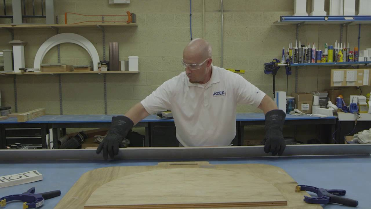 How to Use Heat Bending on PVC Trim to Form a Curved Profile