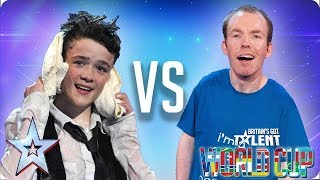 QUARTER-FINALS: George Sampson vs Lost Voice Guy | Britain's Got Talent World Cup 2018