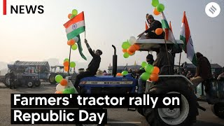 Kisan Andolan: Farmers Lead Tractor Rally on Republic Day