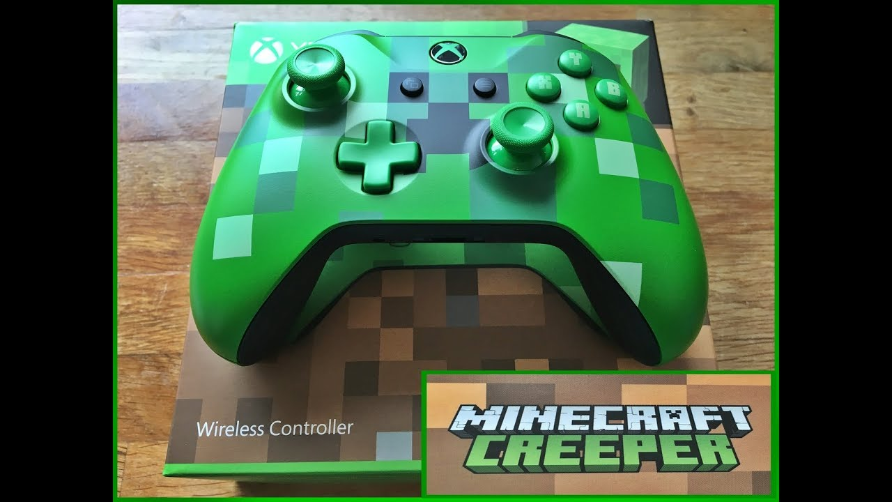 Xbox One Wireless controller MINECRAFT CREEPER edition unboxing and review