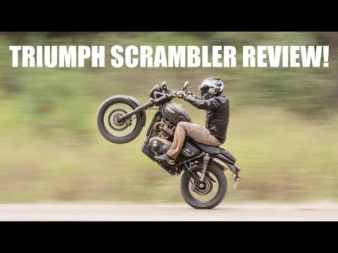 Triumph Street Scrambler Test Ride Review! Scraping Peg Time!