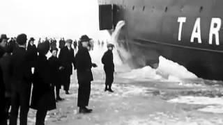 1920's Finland - Crazy People Running Around Huge Icebreaker