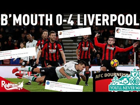 Bournemouth v Liverpool 0-4 |  Liverpool Fan Twitter Reactions
