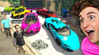 Collecting Billionaire Supercars W/ Little Brother In GTA 5 Roleplay..