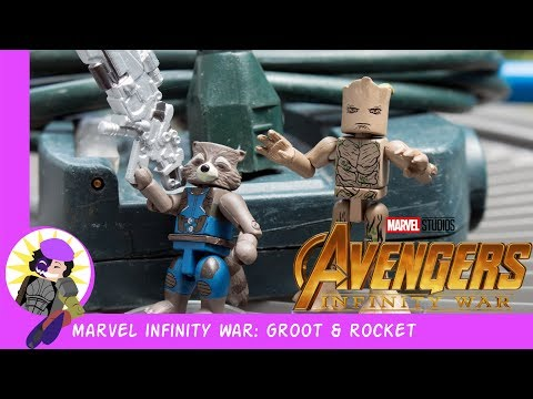 Minimates Marvel Avengers: Infinity War Groot And Rocket Review