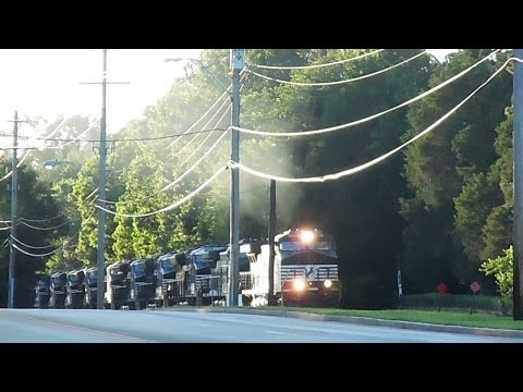 NS M6A with 13 brand new Norfolk Southern ET44AC's!