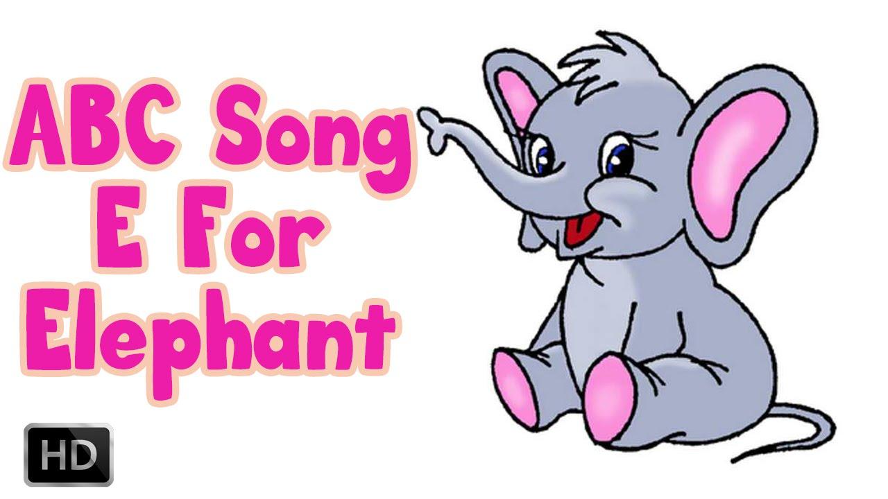 Alphabet Song ABCD - E for ELEPHANT - Phonics Song With Lyrics - YouTube
