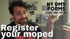 How to register a moped in NY