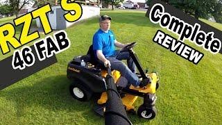 cub cadet steering wheel zero turn mower review rzt s46 fab