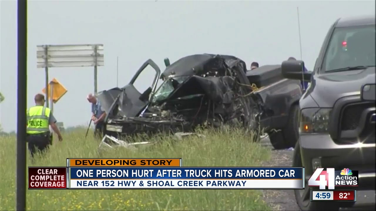 1 hurt in crash involving armored car on 152 HWY
