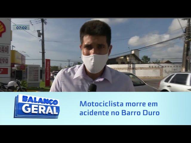 Motociclista morre em acidente no Barro Duro