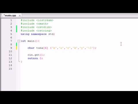 C Programming Tutorial 12 Char Array Youtube