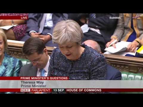 Theresa May Backs British Farming at PMQs on NFU Back British Farming Day 2017