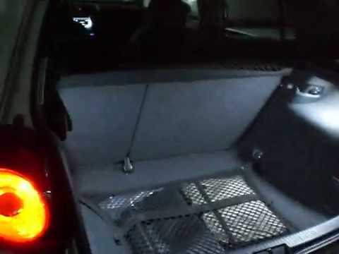 Review iluminaci n led maletero vw golf v youtube - Iluminacion interior coche ...