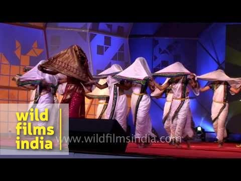 Lavani dance and robotic dance: Opening ceremony Robocon 2014, Pune