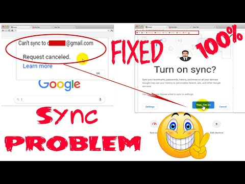 Fix✅ Can't Sync To Gmail In Google Chrome ❗ Can't Sync 100% Solution Here.. 💪