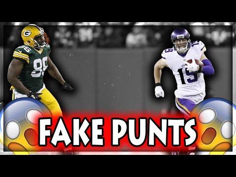 Fake Punts (NFL, NCAA, CFL)