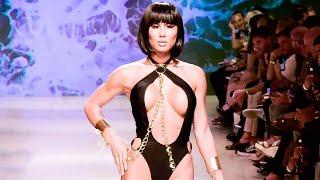 Модные купальники OMG 2018 2019 показ моделей купальники больших размеров слитные раздельные бикини