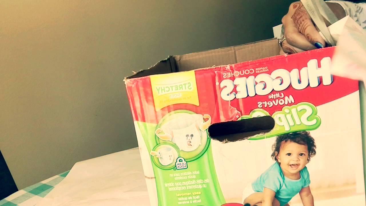 Diy Diaper Box Into A Storage Box Youtube