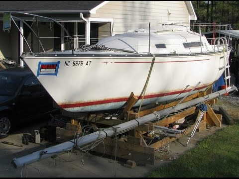 1977 C&C 24' Sailboat Demolition (Part 1)