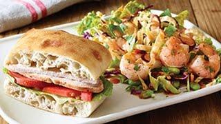 Applebee's Lunch Combo (classic Turkey Breast Sandwich & Thai Shrimp Salad) Review