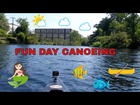 Canoeing Down Side Of  Lackey Pond Dam ~ Meadow Pond  ~ Part 2 ~ Whitinsville Massachusetts