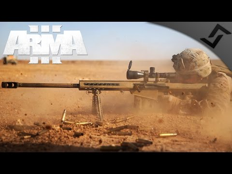 .50 cal Sniper/Spotter Team - ARMA 3 - 3rd Ranger Battalion Main Op Gameplay - 1st Person Gameplay