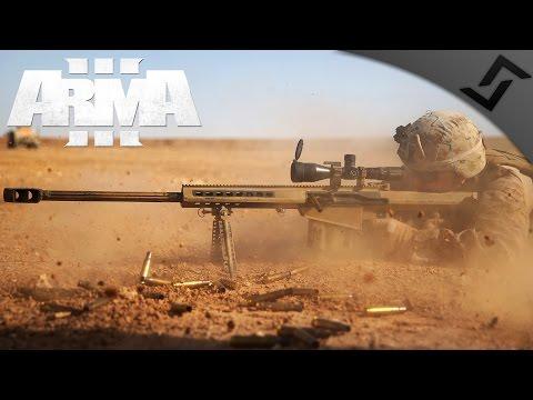 .50 Cal Sniper/Spotter Team - ARMA 3 - 3rd Ranger Battalion Main Op Gameplay - 1st Person Gameplay