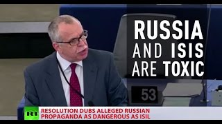 'We are at war with Russia': EU Parliament approves resolution to counter Russian media 'propaganda'