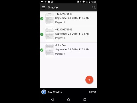 Snapfax Android Overview