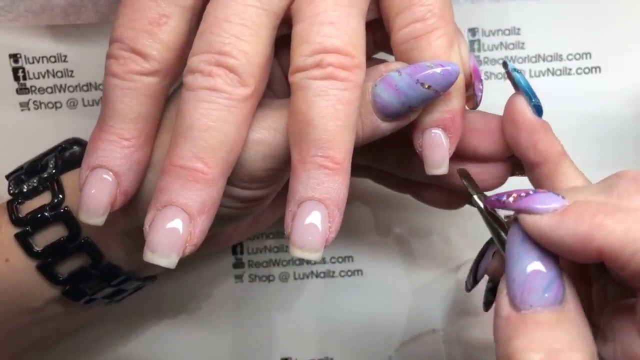 Options Crystal Clear On Ski Jump Nails Paint On French With Luxio Youtube