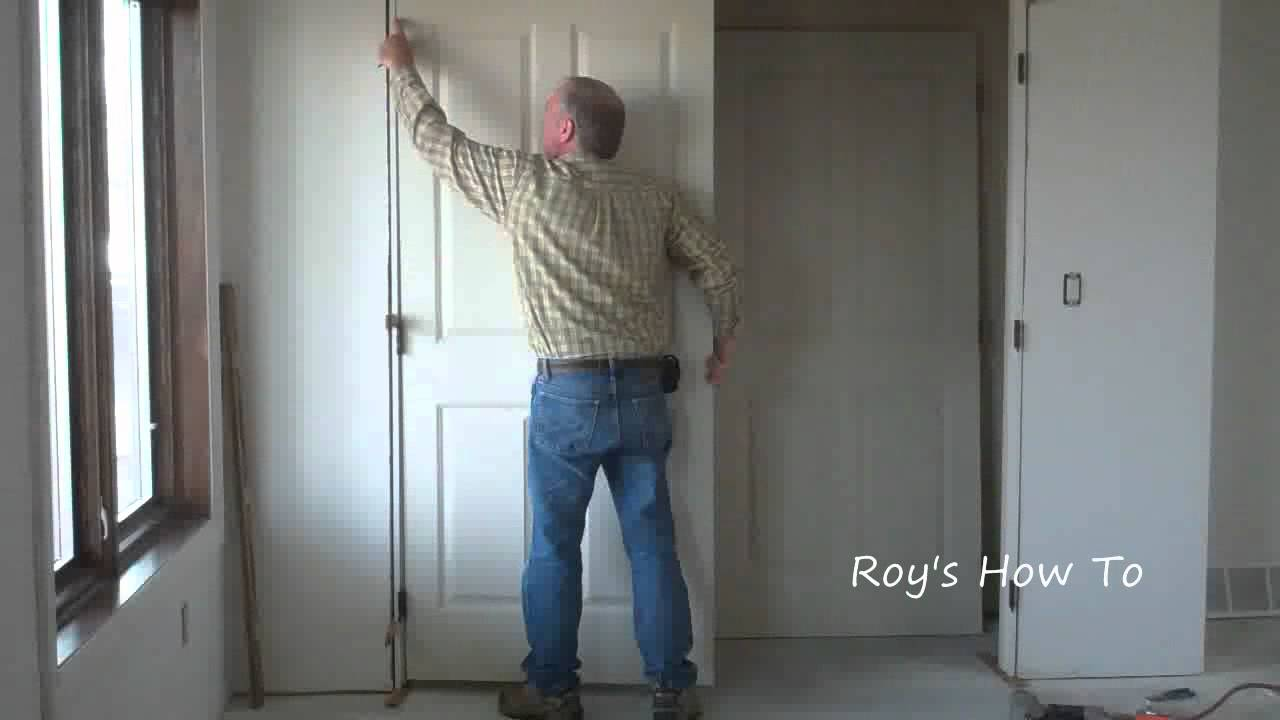 How To Install Prehung Interior Double Doors Video - YouTube